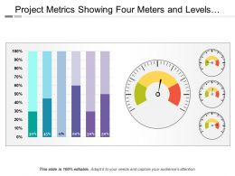 Project Metrics Showing Four Meters And Levels Of Projects