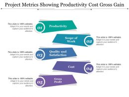 Project Metrics Showing Productivity Cost Gross Gain