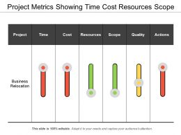 Project Metrics Showing Time Cost Resources Scope