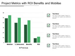 Project Metrics With Roi Benefits And Mobilise