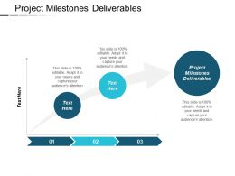Project Milestones Deliverables Ppt Powerpoint Presentation Infographic Template Objects Cpb