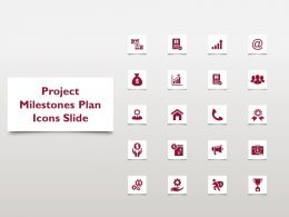 Project Milestones Plan Icons Slide L1138 Ppt Powerpoint Slides