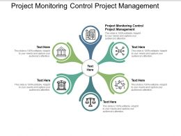 Project Monitoring Control Project Management Ppt Powerpoint Presentation Pictures Graphic Images Cpb