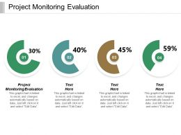 Project Monitoring Evaluation Ppt Powerpoint Presentation File Templates Cpb