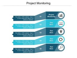 Project Monitoring Ppt Powerpoint Presentation Infographic Template Outfit Cpb