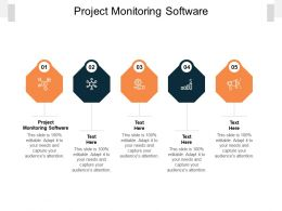 Project Monitoring Software Ppt Powerpoint Presentation Summary Samples Cpb