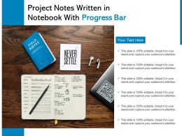 Project Notes Written In Notebook With Progress Bar