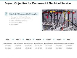 Project Objective For Commercial Electrical Service Powerpoint Presentation File Guide