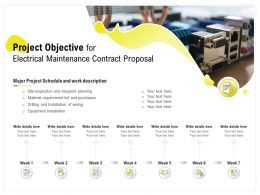Project Objective For Electrical Maintenance Contract Proposal Ppt Powerpoint Layout