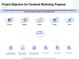 Project Objective For Facebook Marketing Proposal Ppt Powerpoint Presentation Show Graphics
