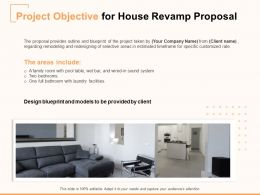 Project Objective For House Revamp Proposal Ppt Powerpoint Presentation Slides Pictures
