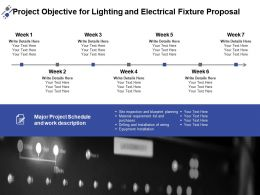 Project Objective For Lighting And Electrical Fixture Proposal Ppt Powerpoint Presentation Inspiration