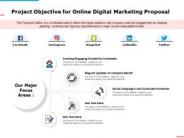 Project Objective For Online Digital Marketing Proposal Ppt Powerpoint Presentation Summary Skills