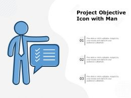 Project Objective Icon With Man