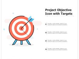Project Objective Icon With Targets