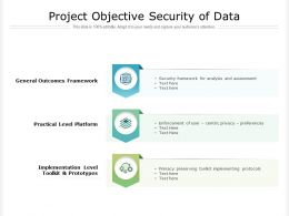Project Objective Security Of Data