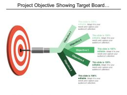 Project Objective Showing Target Board With 5 Objective Options