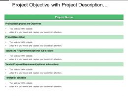 Project Objective With Project Description And Requirements