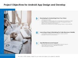 Project Objectives For Android App Design And Develop Ppt Powerpoint Presentation Portfolio
