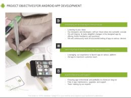 Project Objectives For Android App Development Ppt Powerpoint Presentation File Outline
