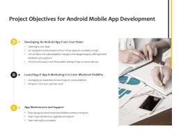 Project Objectives For Android Mobile App Development Planning Ppt Powerpoint Presentation Summary Topics