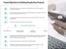 Project Objectives For Building Shopify Store Proposal Ppt Powerpoint Presentation Show