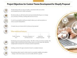 Project Objectives For Custom Theme Development For Shopify Proposal Ppt Display