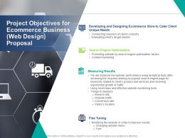 Project Objectives For Ecommerce Business Web Design Proposal Ppt Powerpoint Presentation Portfolio Images