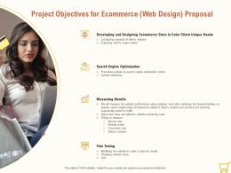Project Objectives For Ecommerce Web Design Proposal Ppt Powerpoint File Display