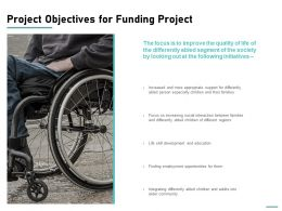 Project Objectives For Funding Project Ppt Powerpoint Presentation Slides