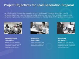 Project Objectives For Lead Generation Proposal Ppt Powerpoint Ideas