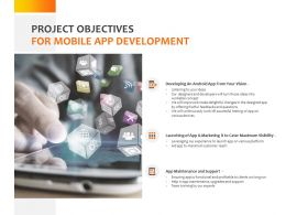 Project Objectives For Mobile App Development Ppt Powerpoint Presentation Gallery