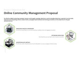 Project Objectives For Online Community Management Proposal Optimizing Ppt Slides