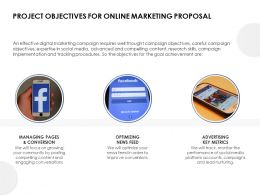 Project Objectives For Online Marketing Proposal Ppt Powerpoint Presentation Layouts