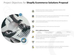 Project Objectives For Shopify Ecommerce Solutions Proposal Ppt Powerpoint Presentation Layouts