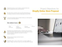 Project Objectives For Shopify Online Store Proposal Ppt Powerpoint Presentation Pictures Examples