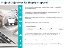 Project Objectives For Shopify Proposal Ppt Powerpoint Presentation Visual