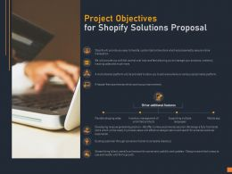 Project Objectives For Shopify Solutions Proposal Ppt Powerpoint Presentation Model