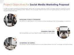Project Objectives For Social Media Marketing Proposal Ppt Powerpoint Presentation Professional