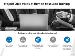 Project Objectives Of Human Resource Training Ppt Powerpoint Presentation Inspiration