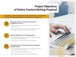 Project Objectives Of Online Content Writing Proposal Ppt Powerpoint Icon