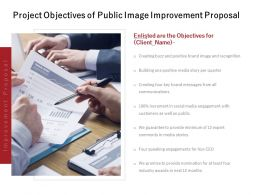 Project Objectives Of Public Image Improvement Proposal Ppt Slides