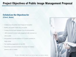 Project Objectives Of Public Image Management Proposal Ppt Powerpoint Presentation