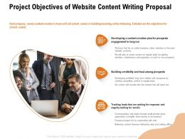 Project Objectives Of Website Content Writing Proposal Ppt Powerpoint Presentation Gallery Clipart