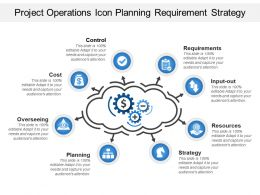 Project Operations Icon Planning Requirement Strategy