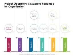 Project Operations Six Months Roadmap For Organization