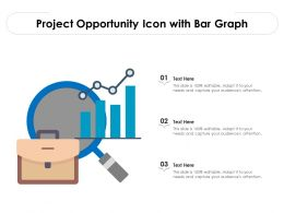 Project Opportunity Icon With Bar Graph
