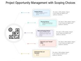 Project Opportunity Management With Scoping Choices