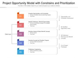 Project Opportunity Model With Constrains And Prioritization
