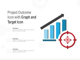 Project Outcome Icon With Graph And Target Icon